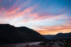 montenegro zmierzch Zdjęcie Stock