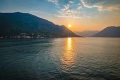 Montenegro zmierzch Fotografia Stock