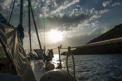 Montenegro zmierzch od łodzi Obrazy Stock