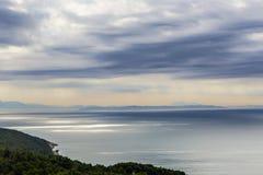 Montenegro Zmierzch Pearlescent Fotografia Royalty Free