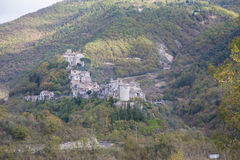 Montenero Sabino. View of the town in the province of Rieti Montenero Sabino Royalty Free Stock Images