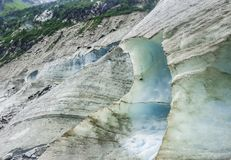 Montenvers -在冰冰川海的冰洞  库存图片
