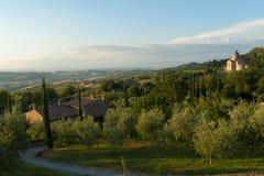 Montepulciano, Тоскана стоковое изображение