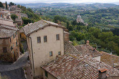 Montepulciano. Hill town in the province of Siena in southern Tuscany - Italy Stock Photo