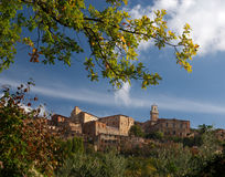 Montepulciano and Autumn Foliage, Italy Royalty Free Stock Photo