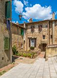 Montepulciano, città medievale famosa nella provincia di Siena La Toscana, Italia fotografie stock libere da diritti