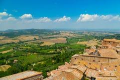 Montepulciano-Dächer stockbilder