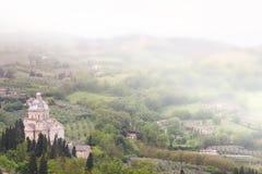 Montepulciano em Toscânia Foto de Stock Royalty Free