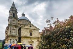Montepulciano en Toscana Imagen de archivo