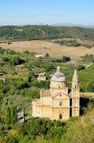 Montepulciano kyrka royaltyfria foton