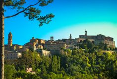 Montepulciano medieval village. Siena, Tuscany Italy Royalty Free Stock Images