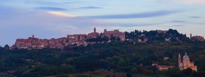 Montepulciano-Panorama Stockfoto