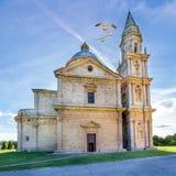 Montepulciano San Biagio kyrka Royaltyfri Bild