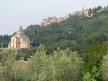 Montepulciano, Siena (Italië) Stock Fotografie