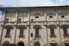 Montepulciano, Siena, Włochy: historyczni budynki obraz royalty free