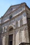 Montepulciano, Siena, Włochy: historyczni budynki obrazy stock