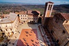 Montepulciano sikt från stadstorn Arkivbild