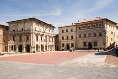 Montepulciano square Stock Image