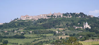 Montepulciano, Toscanië, Italië Royalty-vrije Stock Foto's