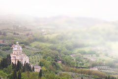 Montepulciano in Toscanië Royalty-vrije Stock Foto