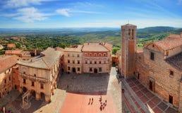 Montepulciano town panorama in Tuscany, Italy Royalty Free Stock Photo