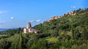 Montepulciano town in Tuscany Royalty Free Stock Photography