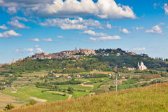 Montepulciano town view, Tuscany, Italy Stock Photography