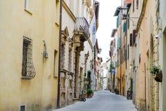 Montepulciano, Tuscany, Italy - characteristic street in the city center. Montepulciano, Tuscany, Italy, Europe - characteristic street in the city center Stock Images