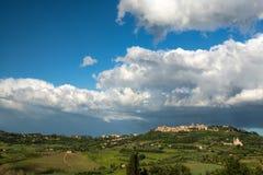 MONTEPULCIANO, TUSCANY/ITALY - MAY 19 : San Biagio church and Mo Stock Image