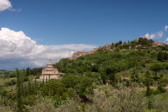 MONTEPULCIANO, TUSCANY/ITALY - MAY 17 : View of San Biagio churc Stock Photography