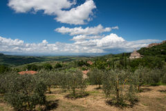 MONTEPULCIANO, TUSCANY/ITALY - MAY 17 : View of San Biagio churc Royalty Free Stock Images