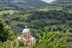 MONTEPULCIANO, TUSCANY/ITALY - MAY 17 : View of San Biagio churc Stock Photos
