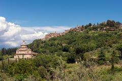 MONTEPULCIANO, TUSCANY/ITALY - MAY 17 : View of San Biagio churc Royalty Free Stock Photography