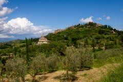 MONTEPULCIANO, TUSCANY/ITALY - MAY 17 : View of San Biagio churc Stock Images
