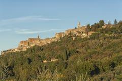 MONTEPULCIANO - TUSCANY/ITALY, OCTOBER 29, 2016: Montepulciano town in Tuscany, Valdichiana royalty free stock images
