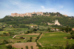 Montepulciano village Stock Photography
