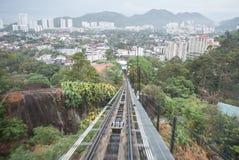 Monter à la colline de Penang Image stock