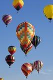 Monter en ballon d'air chaud Photo stock