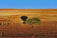 Monter en ballon (la Namibie) Images libres de droits