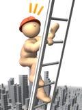 Monter l'échelle à une haute illustration de vecteur