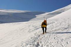 Monter un glacier Photos stock