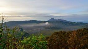 Montera Bromo, en aktiv vulkan i East Java Royaltyfri Bild