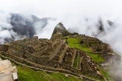Montera HHuayna Picchu, den borttappade staden av incasna i Machu Picchu Arkivfoto