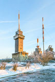 Montera mer grosser Feldberg, det högsta maximumet av det Taunus berget Fotografering för Bildbyråer