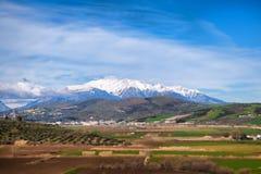 Montera Parnassos i Grekland, skida område för Aten royaltyfria foton