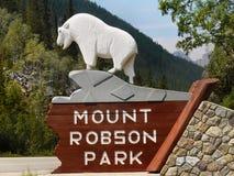 Montera Robson Park, kanadensiska steniga berg, Kanada Fotografering för Bildbyråer