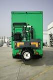 monterad lastbil för gaffeltruck moffett Royaltyfri Fotografi