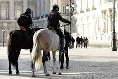 Monterad polis fotografering för bildbyråer