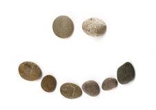monterad rolig pebblepositive för emoticon royaltyfri fotografi