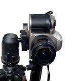monterad slrtripod för kamera dslr Arkivbilder